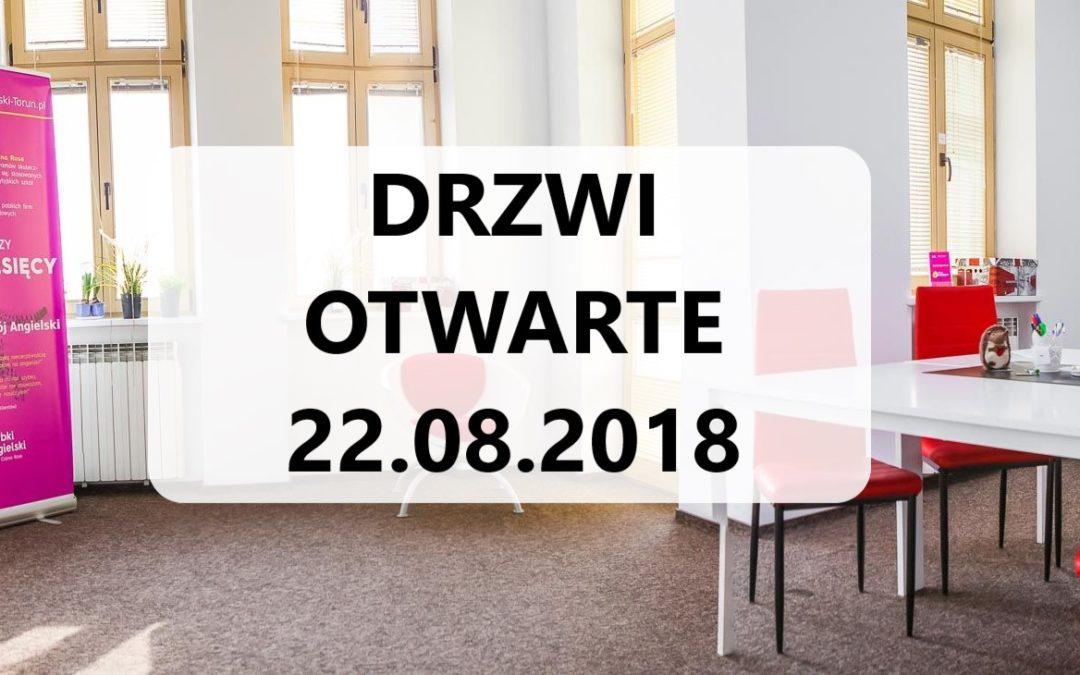 DRZWI OTWARTE 22 sierpnia 2018 w Szybkim Angielskim!